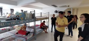 Y.M. Tengku Dato' Dr. Hishammuddin Zaizi visits the charity home's living quarters